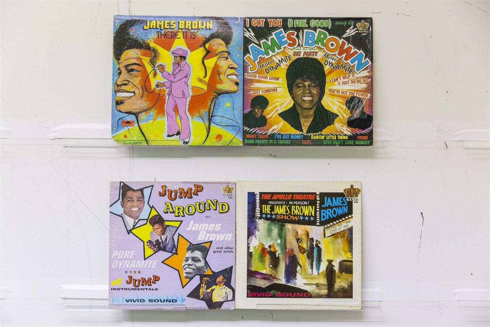 4 James Brown Vinyl Records