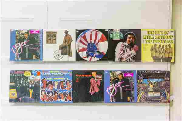 10 Assembled Vinyl Records