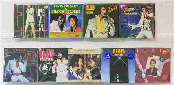9 Elvis Presley Vinyl Records