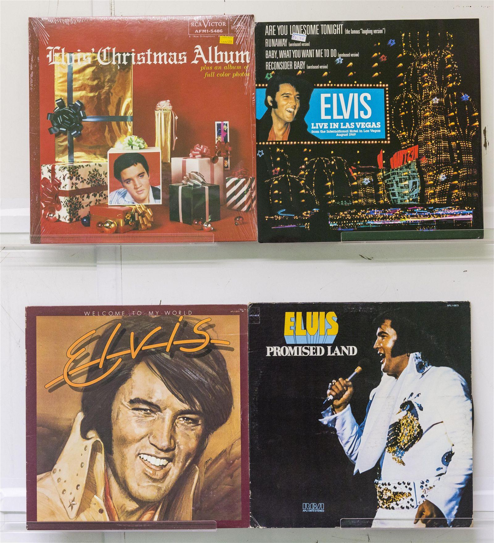 4 Elvis Presley Vinyl Records