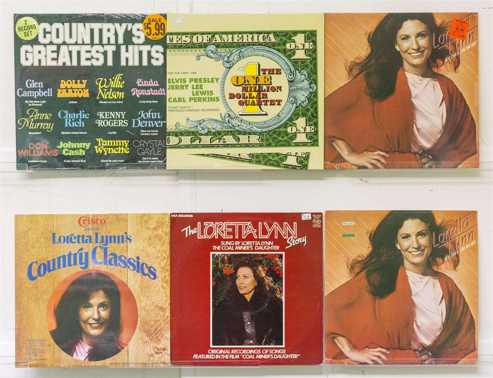 6 Assembled Vinyl Records