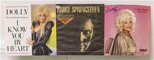 Bruce Springsteen & Dolly Parton 45's Vinyl Records