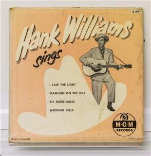 Hank Williams 45 Vinyl Records