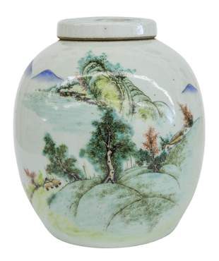 Chinese Famille Rose Ginger Jar