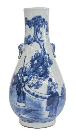 Chinese Elongated Pear Shaped Vase