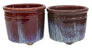 Chinese Ox Blood Footed Planters/ Brush Washers