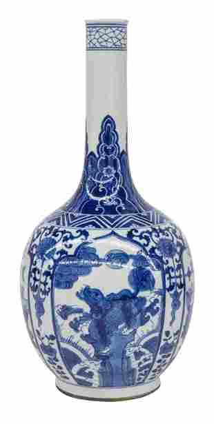 Fine Chinese Canton Bottle Vase