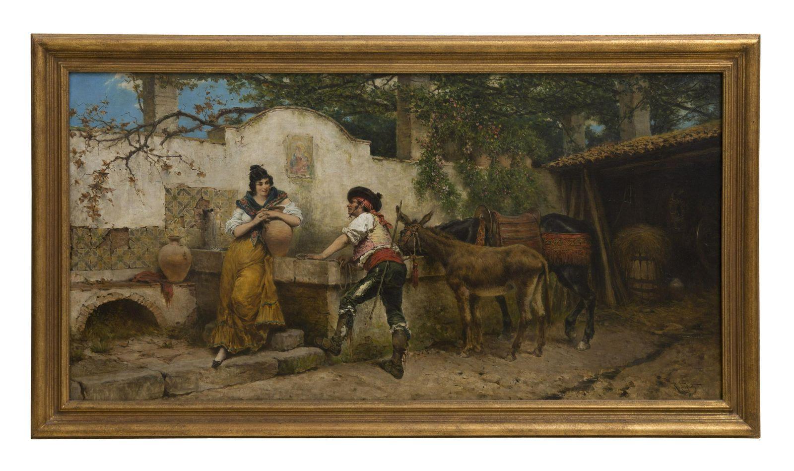 Ramon Tusquets Y Maignon (1839-1904) Oil (Spain, Italy)