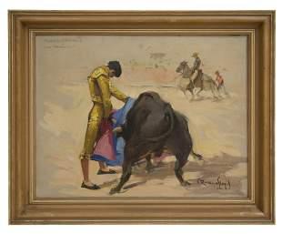 Carlo Ruano Llopis Oil (1879-1950) Oil (Spain)