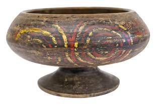19th Century Chinese Minority Stem Wood Bowl