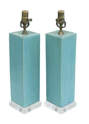 Chinese Glazed Stoneware Lamps