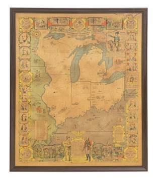 1930 Northwest + Territory Map