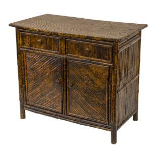 Chinese Bamboo Cabinet