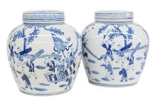 Chinese Blue & White Ginger Jars