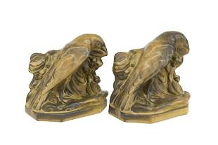 William McDonald Rookwood Pottery Bookends #2275