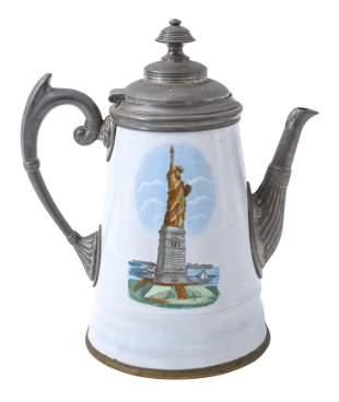 Rare 9.75 Graniteware Coffee Pot