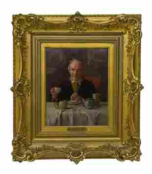 Louis H. Charles Moeller (1885-1930) Oil (NY, NJ)