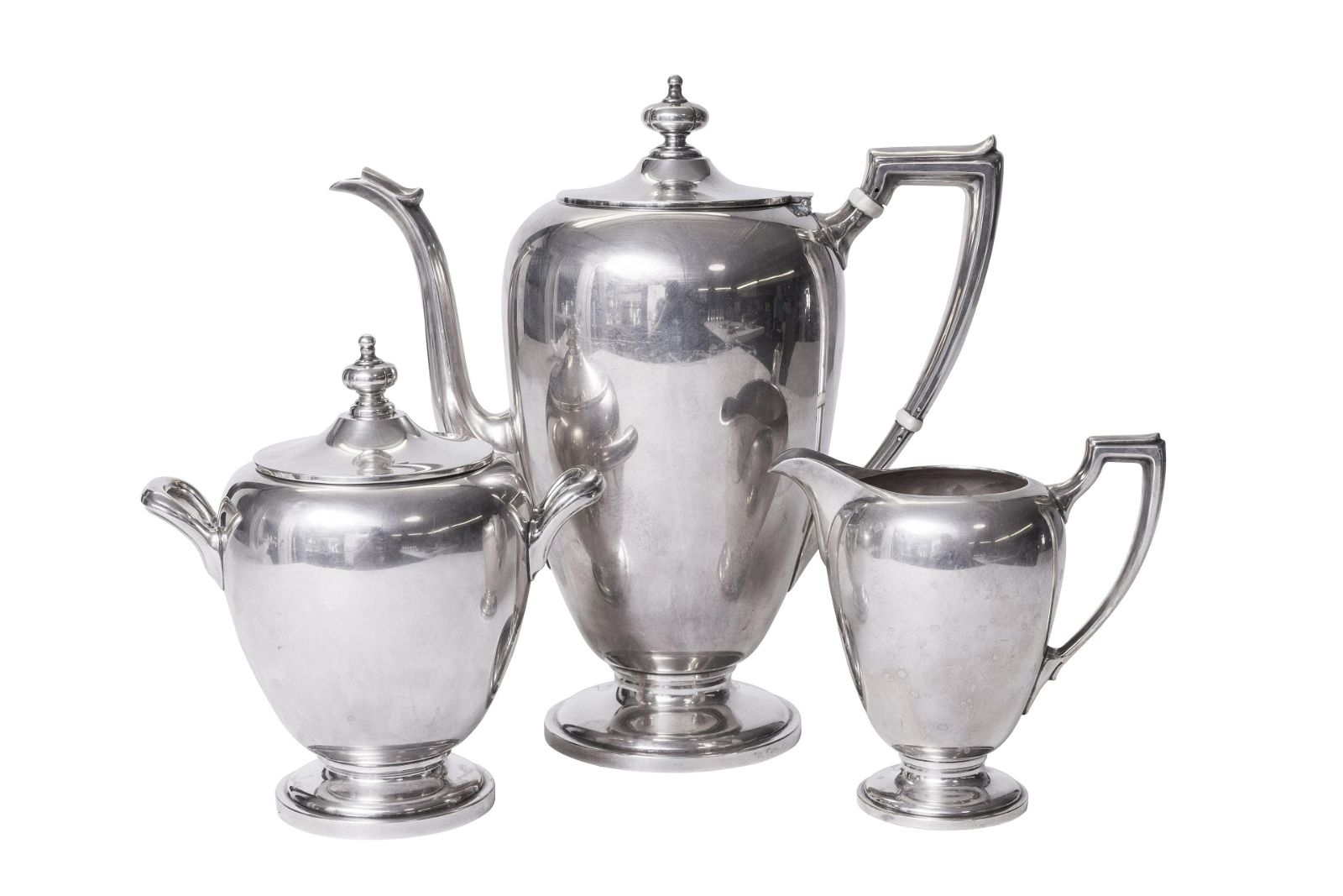 Sterling Silver (3) Piece Coffee Set