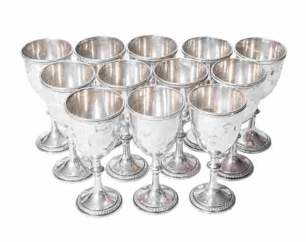 York Sterling Silver Goblets