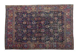 Blue Sarouk Oriental Rug