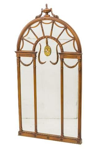 Imperial Mahogany Hand Painted Mirror