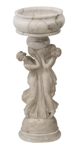 Alabaster Figural Parlor Lamp