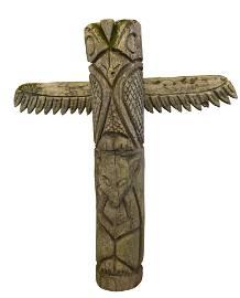 Carved Folk Art Totem Pole