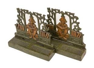 Antique Cast Iron Judd Bookends