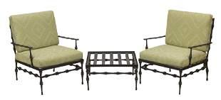 Phyllis Morris Lounge Chairs & Ottoman