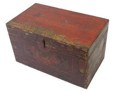 19th Century Hinged Lid Box