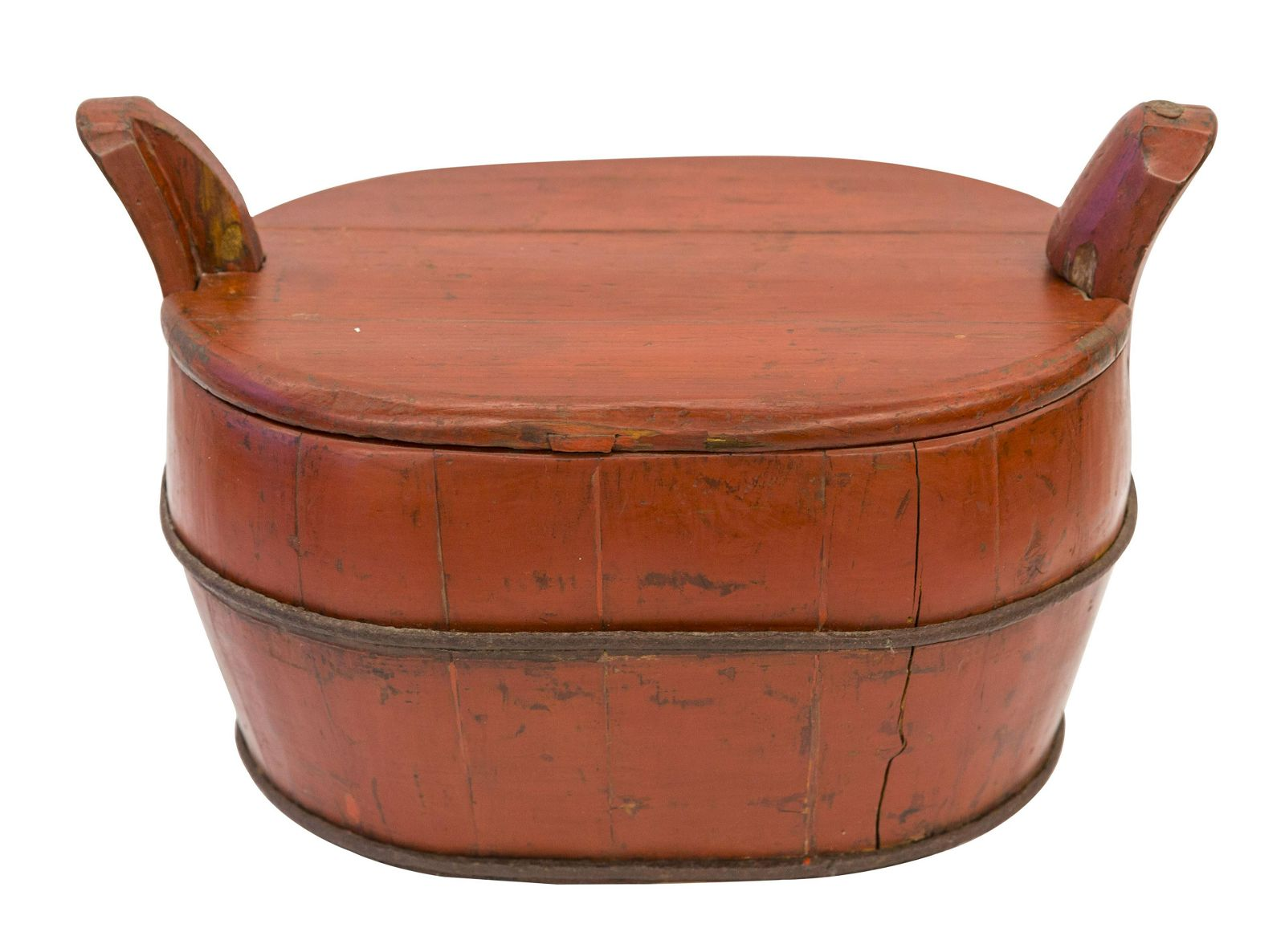 Chinese Red Lacquered Food Container