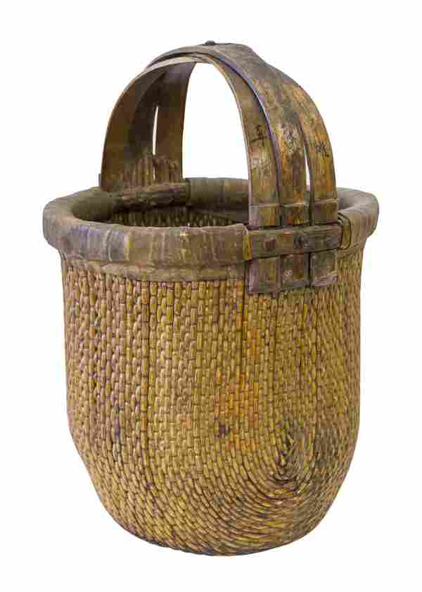Chinese Hand Woven Harvest Basket
