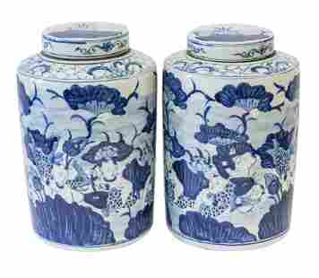 Chinese Canton Tea Caddy's
