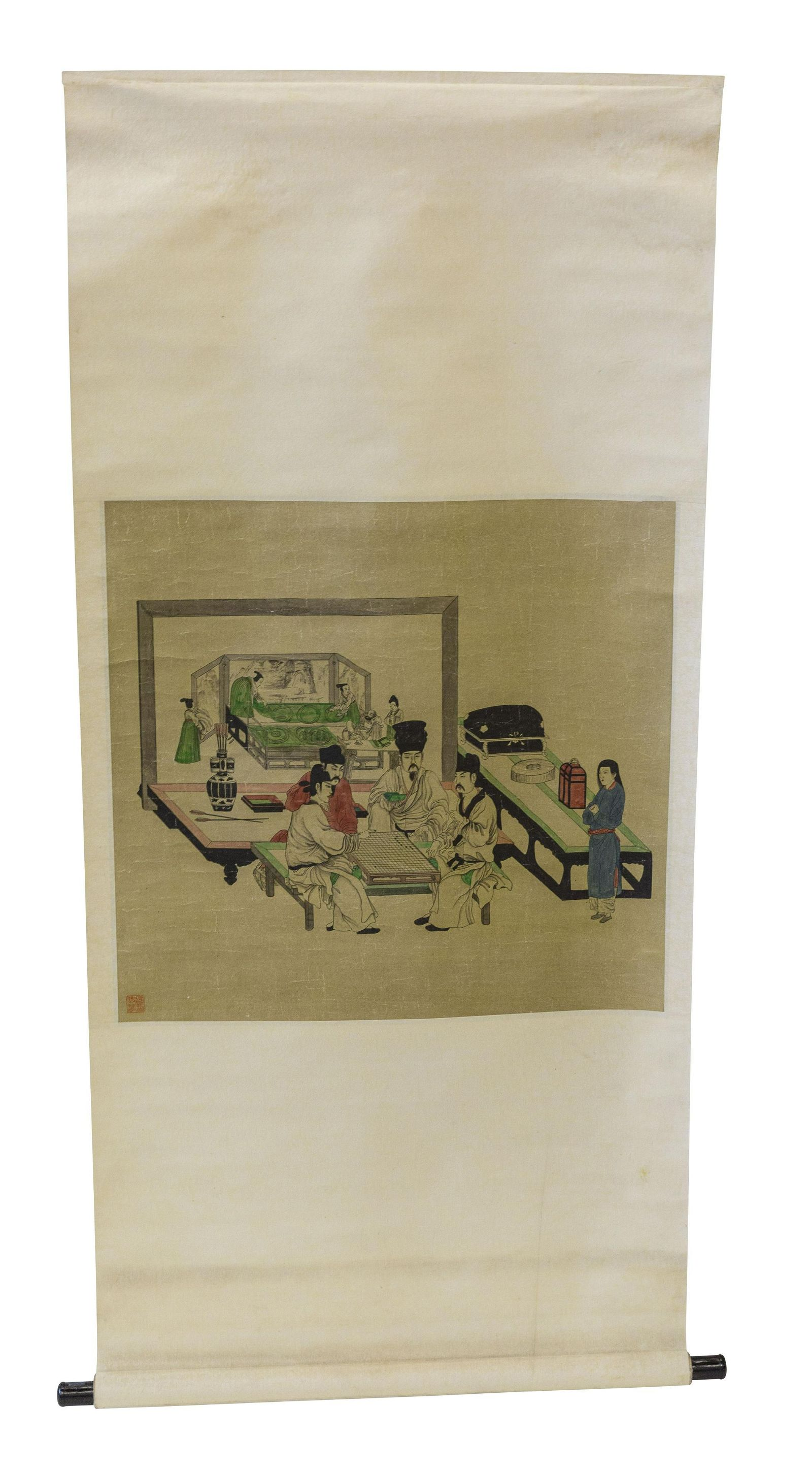 20th Century Chinese Scroll with Figures