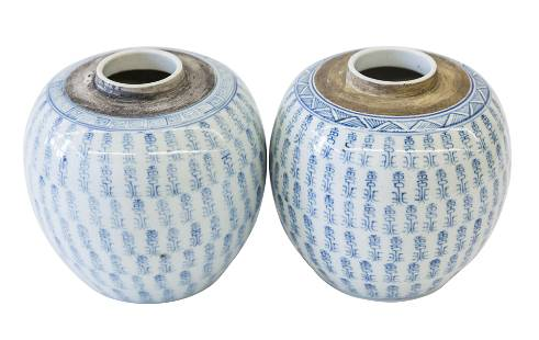 Chinese Canton Ginger Jars