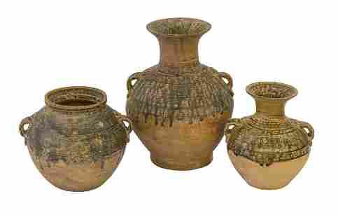 Chinese Han Dynasty Style Stoneware Jars