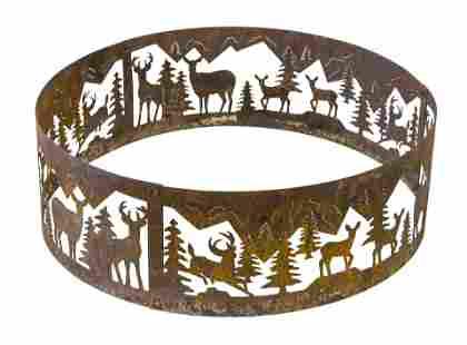 Round Architectural Pierced Deer Garden Ornament