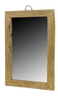 Chinese Elmwood Rectangular Mirror