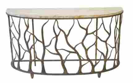 Los Altos Bannister Garden Console Table