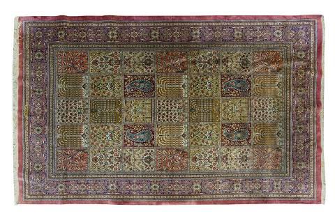 Kashan Silk Oriental Rug