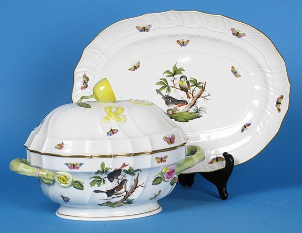 13: Herend Tureen and  Platter