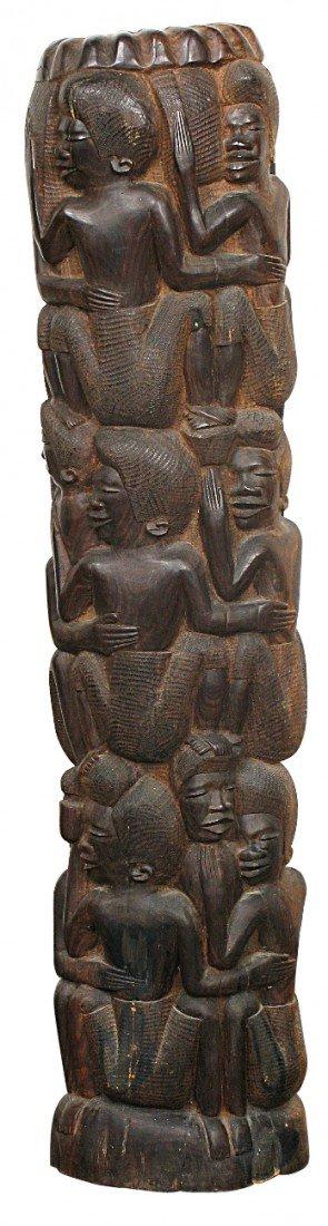 18: Carved African Pedestal