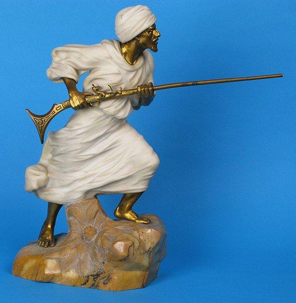 189: Marble and Bronze Statue, Affortunato Gory