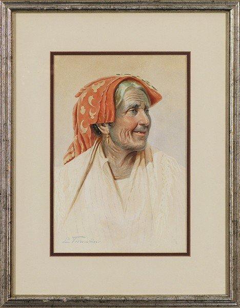 11: E. Viorentino, watercolor