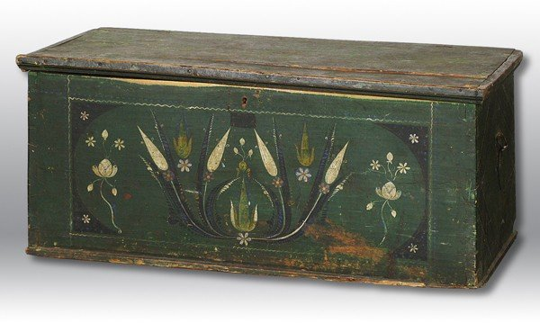 21: Decorated Pine Blanket Box