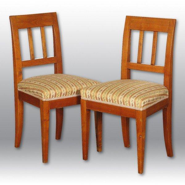 22: Cherry Biedermeier Side Chairs