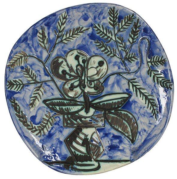 113: Rare Pablo Picasso Flower Plate