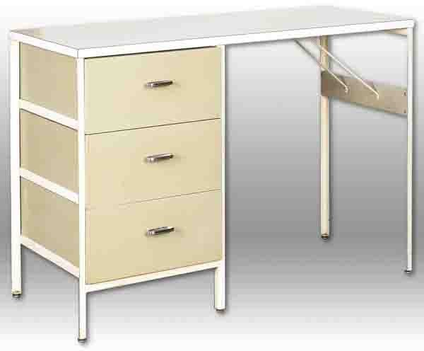 136: George Nelson and Associates Steel Frame Desk
