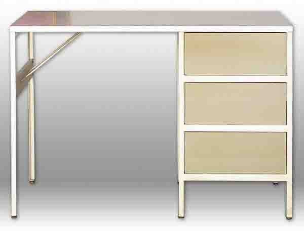 136: George Nelson and Associates Steel Frame Desk - 2
