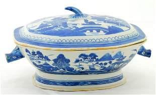 Canton Porcelain Tureen